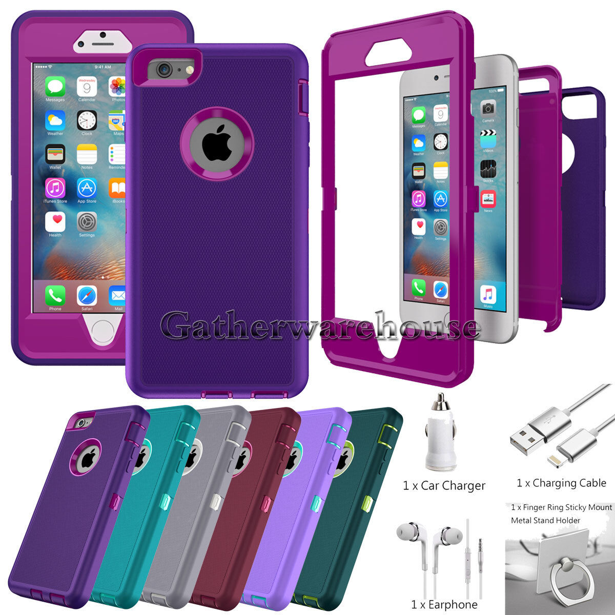 Protective Hybrid Shockproof Hard Case Cover For Apple iPhone 6 6s Plus 7 7 Plus