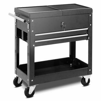 Rolling Mechanics Tool Cart Slide Top Utility Storage Cabine