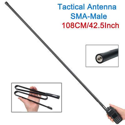 "42.5"" ABBREE SMA-Male CS Tactical Antenna for Yaesu Kenwood TYT Two Way Radio"