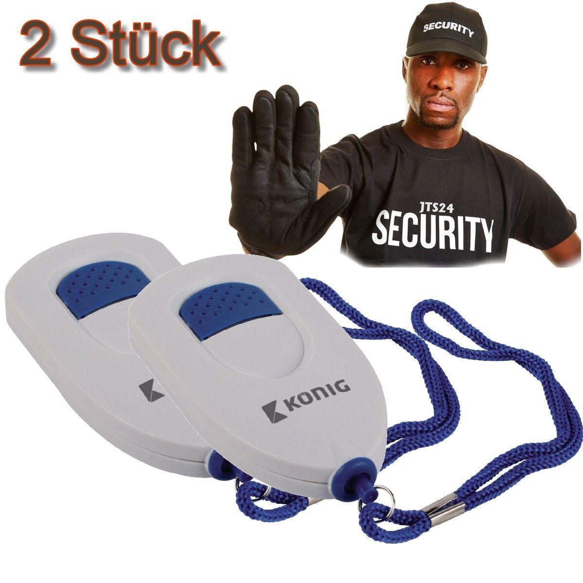 2 KÖNIG Sirene Panik Alarm Hand Tasche Sicherheitsalarm Personenalarm Panikalarm