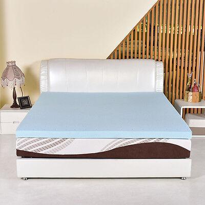 King Size 3  Gel Memory Foam Mattress Mat Bed Pad Topper Furniture