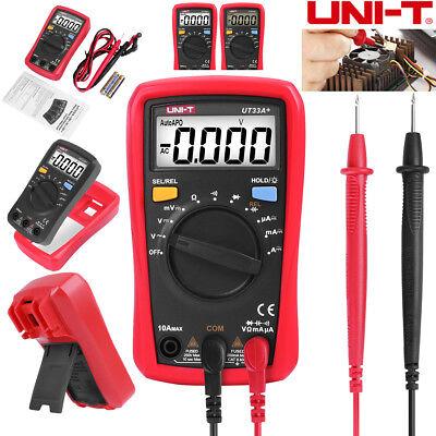 Uni-t Ut33a Handheld Digital Multimeter Auto Range Ac Dc Ohm Volt Tester Meter