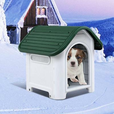 Waterproof Plastic Dog Cat Kennel Puppy House Outdoor Pet Shelter Up to 20LB