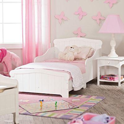 KidKraft Nantucket Wood Toddler Kids Bed White with Headboard, Footboard,New!