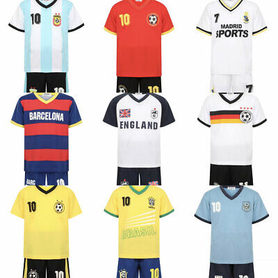 Football Kit For Kids,Boys and Girls Sport Jersey T Shirt Short set Age2-14Year](Football Jersey For Girls)