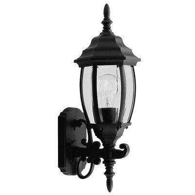 Livex Kingston Black 1 Light Exterior Wall Sconce Lighting Fixture Sale 7532-04 Black Kingston Wall Lantern