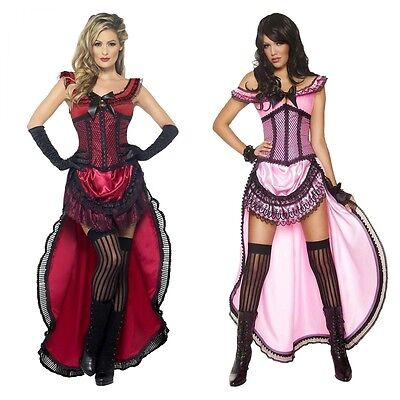 Saloon Girl Costume Adult Can Can Dancer Halloween Fancy - Saloon Girl Halloween Costumes