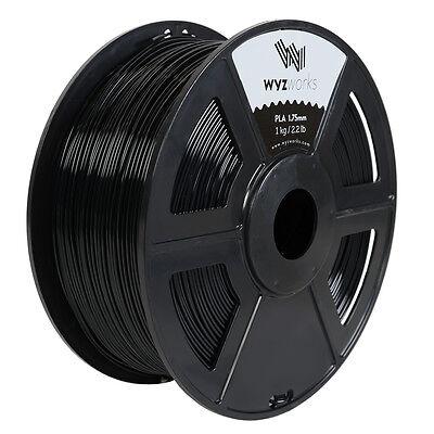 Wyzwork 3d Printer Premium Pla Filament 1.75mm 1kg2.2lb - Black