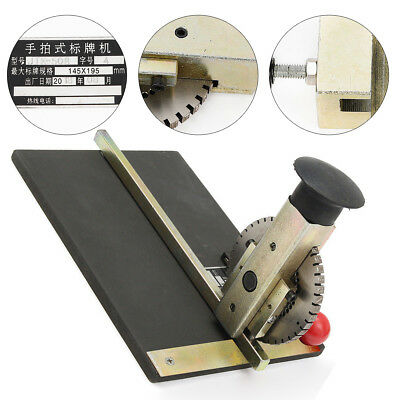 Manual Stamping Embosser Embossing Machine Metal Deboss Plate Dog Tag Printer Us