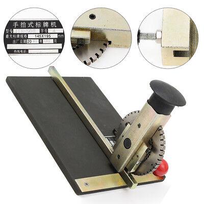 Manual Label Marking Embossing Machine Dog Tag Metal Plate Stamping Embosser Us