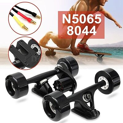 DIY Single Electric Longboard Skateboard Kit Parts N5065 8044 Wheels CNC Mount