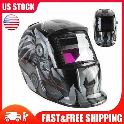 Kinso Solar Auto Darkening Welding Helmet Arc Tig Mig Mask Grinding W Hood Us