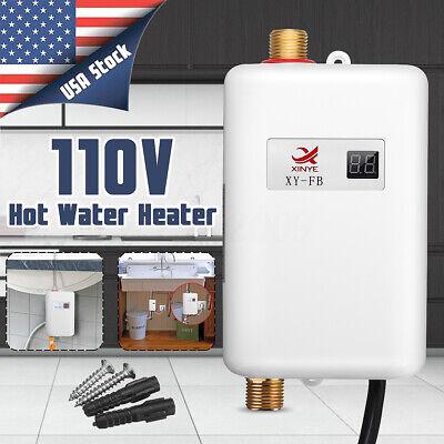 110V 3000W Mini Eléctrico Calentadores de Paso Instantáneo Agua Caliente Cocina