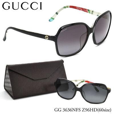 5f6b0380490 GUCCI SUNGLASSES GG 3636 N F S Z96HD OPTYL BLACK FLORA FLOWER BLACK