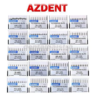 100pcs Azdent Dental Super Coarse Fg Diamond Burs Fit For High Speed Handpiece