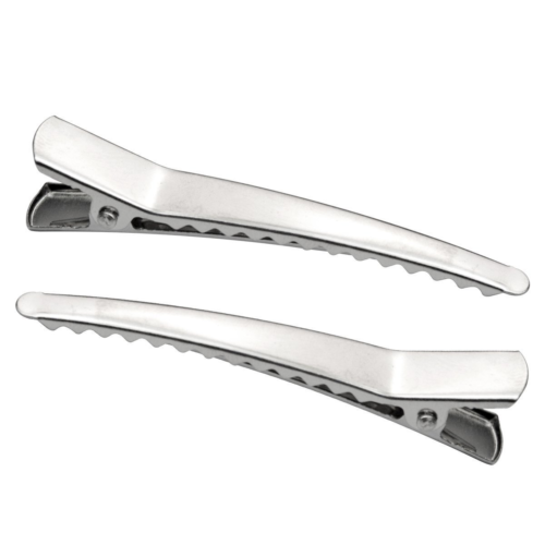 Marrywindix 50 Pack 2.36 inches Hair Clips, Silver Metal All