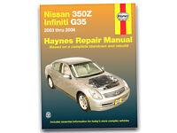 2003-2008 Nissan 350Z Infiniti G35 Haynes Repair Service Workshop Manual 7233