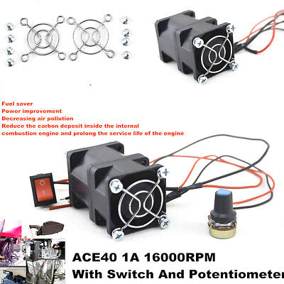 ACE40 12V 1.4A Turbo supercharger Boost Intake Fan w/Switch Potentiometer Covers