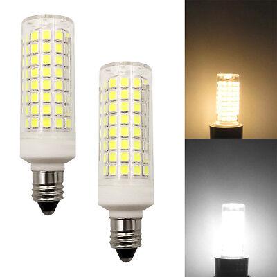 2pcs E11 LED Light Bulb 102-2835 Ceramics Ceiling Fans Lights Lamp Dimmable (120v Light Bulb Lamp)