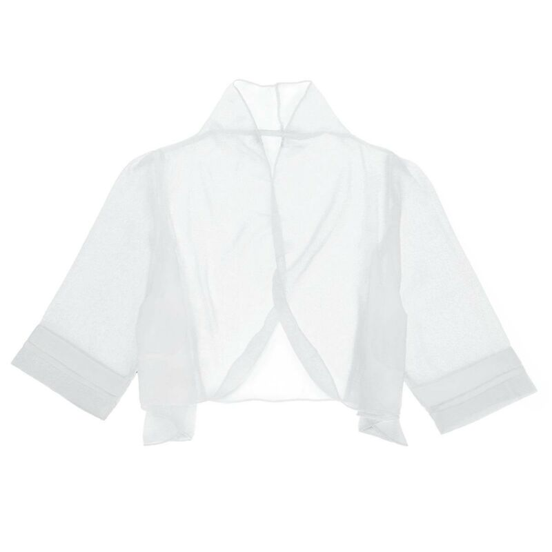 dPois Kids Girls Shiny Sequins Long Sleeve Cropped Blazer Bolero Shrug Clothing Stage Performance Suit Open Front Top Short Cardigan Jacket
