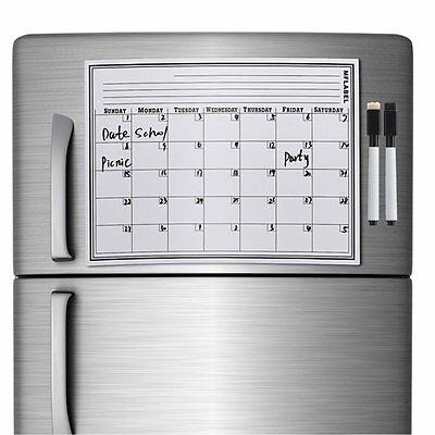 17 X 12 Calendar Dry Erase Magnetic Refrigerator Flexible Message Board Marker
