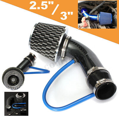Car 2.5''-3.0'' Universal Cold Air Intake Induction Hose Pipe Kit System Filter