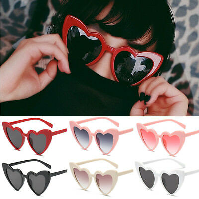 Heart Shaped SUNGLASSES fashion Shades Sunnies Shape Retro costume glasses - Heart Shaped Glasses