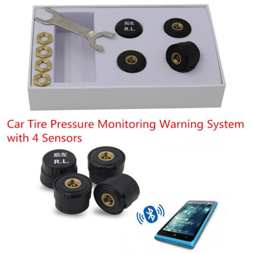 Bluetooth 4.0 TPMS Auto Car Tire Tyre Pressure Monitoring System with 4 Sensors