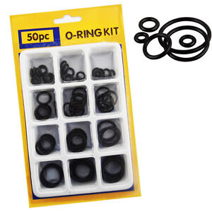 DIY 50pc O Rings Set Assorted Size Plumbing Air Seal Rubber Tap Sink Seal Thread