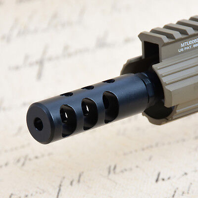 .223 1/2x28RH Thread Competition Short Muzzle Brake with Crush Washer
