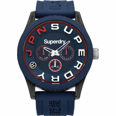 Superdry Mens Gents Tokyo Blue Wrist Watch SYG170U