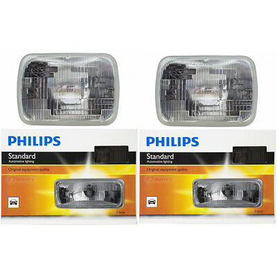 (Two Philips Standard Sealed Beam Light Bulb H6054C1 for H6054 REC-68 12.8V rf)