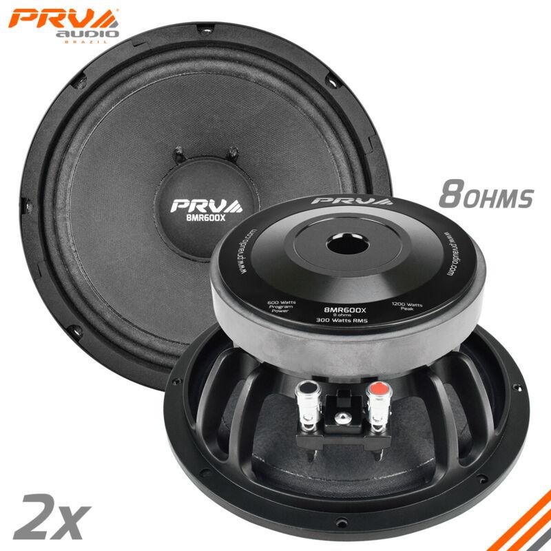 "2x PRV Audio 8MR600X X-treme Mid Range 8"" Speaker 8 Ohms 8MR PRO 1200W"