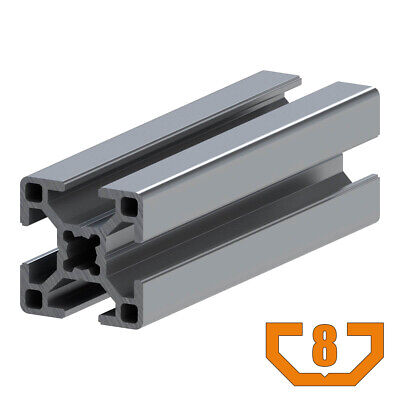 30x30 Aluminum T-slot Profile - 8mm T-slot - 72 Long - 30-3030