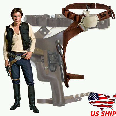 Han Solo Leather Belt Cosplay Costume Props Leg Pack Gun package Adult