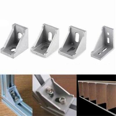 (Aluminium L Shape Right Angle Brace Corner Joint Bracket Furniture Fitting Shelf)
