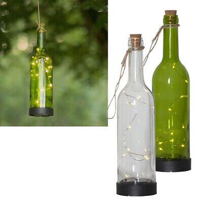 LED Solar Hänge-Lampe Flaschenlicht-Leuchte BOTTLE Lichterkette Flasche hängend