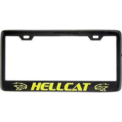 Handmade Carbon Fiber License Plate Frame Hellcat Srt Dodge Challenger Yellow