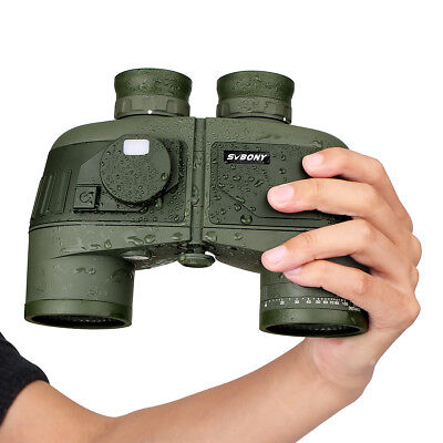 7x50 Military Waterproof Floating Marine Binoculars w/ Rangefinder &Compass