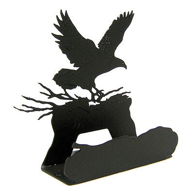 Eagle Black Metal Business Card Holder