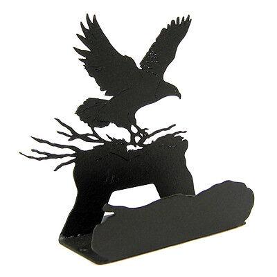 Eagle Black Metal Business Card Holder