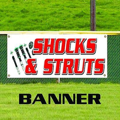 Shocks Struts Banner Business Promotion Sign Car Brake Cv Repair Auto Car Shop