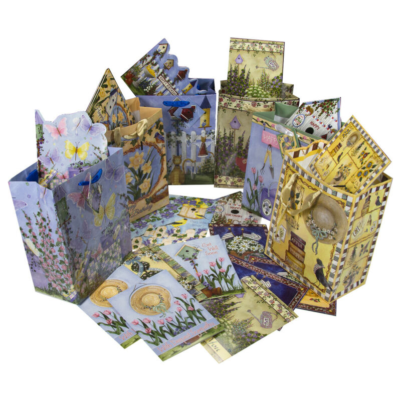 24 Assorted Greeting Cards 24 Envelopes & 12 Gift Bags Set Lot All Occasion Pack