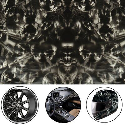 Amazing Black Skulls Hydrographic Water Transfer Hydro Dipping Dip Print Film