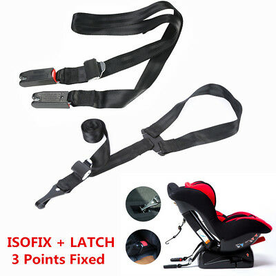 3 Points Fixed Car Safety Seat ISOFIX LATCH Belt Connector For Car Child (Gazelle For Kids)