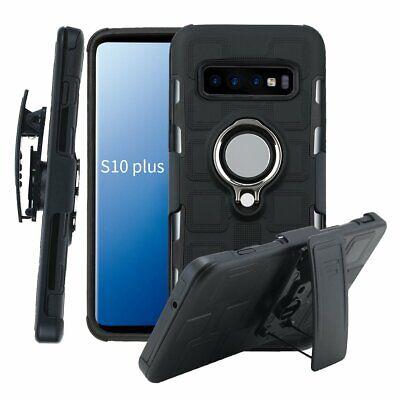 Ring Holder Magnetic Hybrid Case Cover Belt Clip For Samsung S10 5G S9 S8 Plus Clip Case Plus Magnet