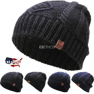 Winter Clearance Sale (CLEARANCE SALE!! Thick Short Clabe Knit Beanie Winter Ski Hat Skull)