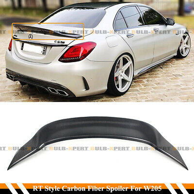 FOR 2015-2020 MERCEDES BENZ W205 C63 AMG R STYLE CARBON FIBER TRUNK SPOILER WING