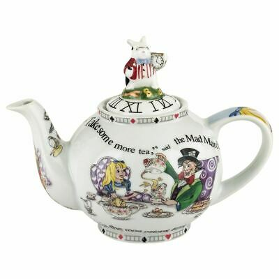 New boxed Paul Cardew Alice in Wonderland small 2 cup teapot & white rabbit lid