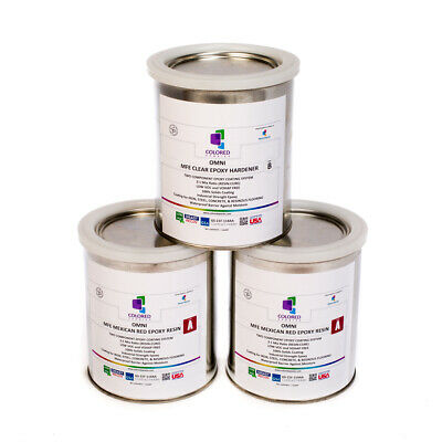 Red Epoxy Resin 100 Solids For Garage Floor Concrete Plywood . 3 Quart Kit
